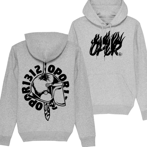 Hoodie Opor - Guztok 1312 (Fairtrade) heather grey XL